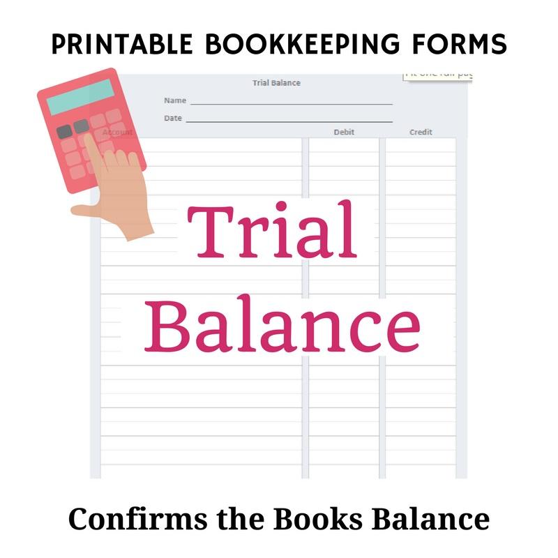 Trial Balance Form
