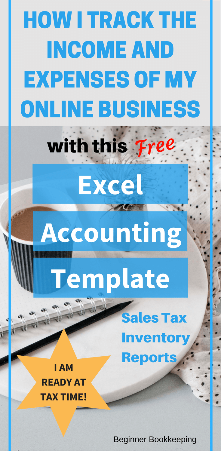 Accounting Excel Template with Sales Tax