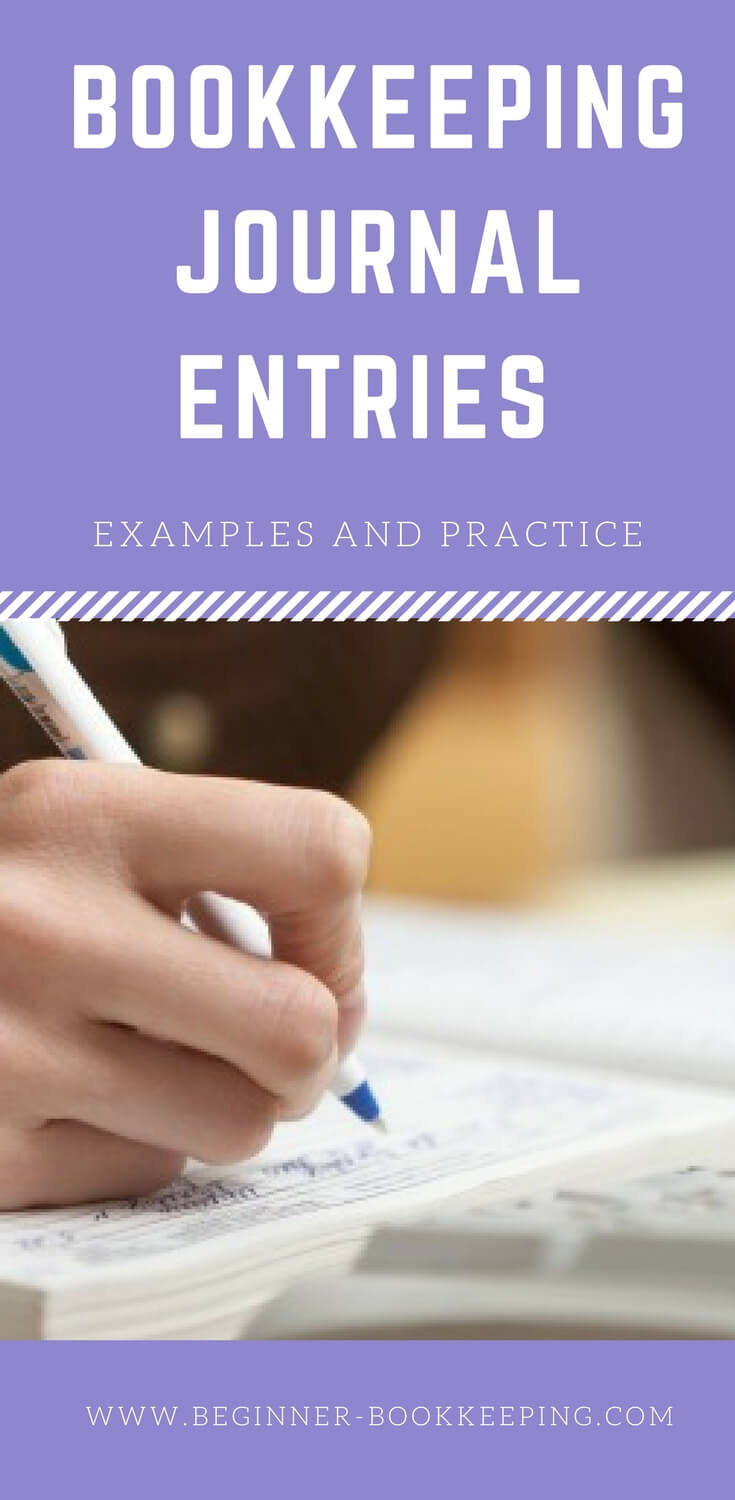 Bookkeeping Journal Entries Examples and Practice sheet
