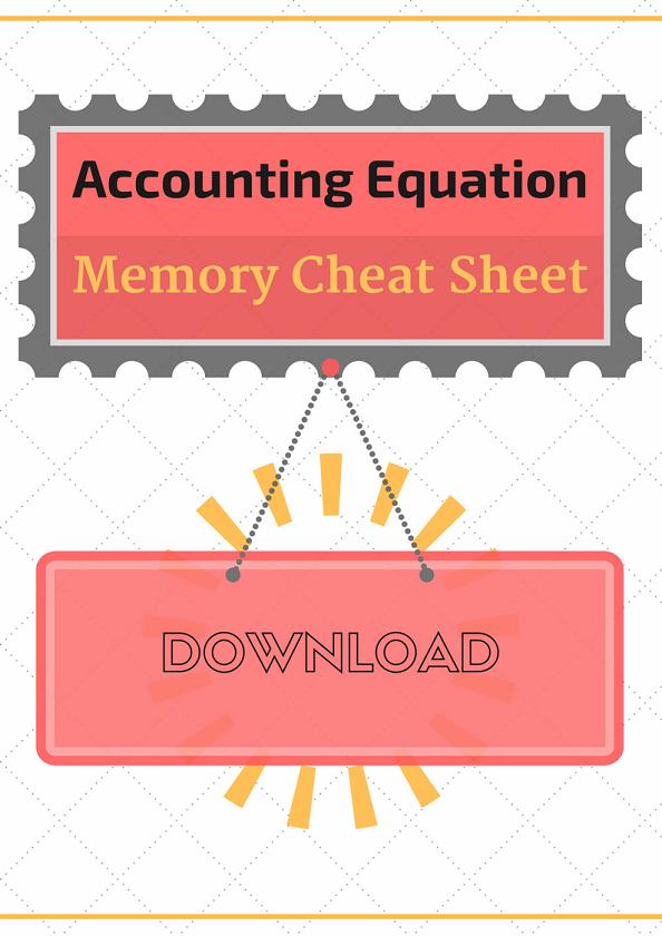 Accounting Equation Cheat Sheet