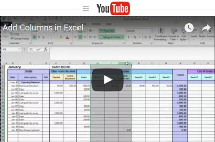 Free excel bookkeeping templates free excel tutorial videos flashek Image collections