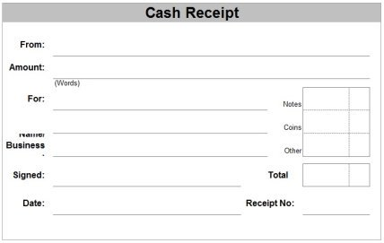 Free Receipt Forms – Blank Receipts Templates