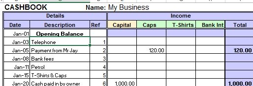 excel cash book. Black Bedroom Furniture Sets. Home Design Ideas