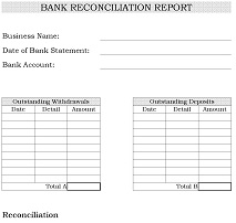 Bank Reconciliation Form
