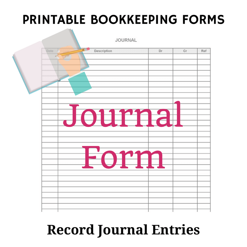 Printable Bookkeeping Journal Form
