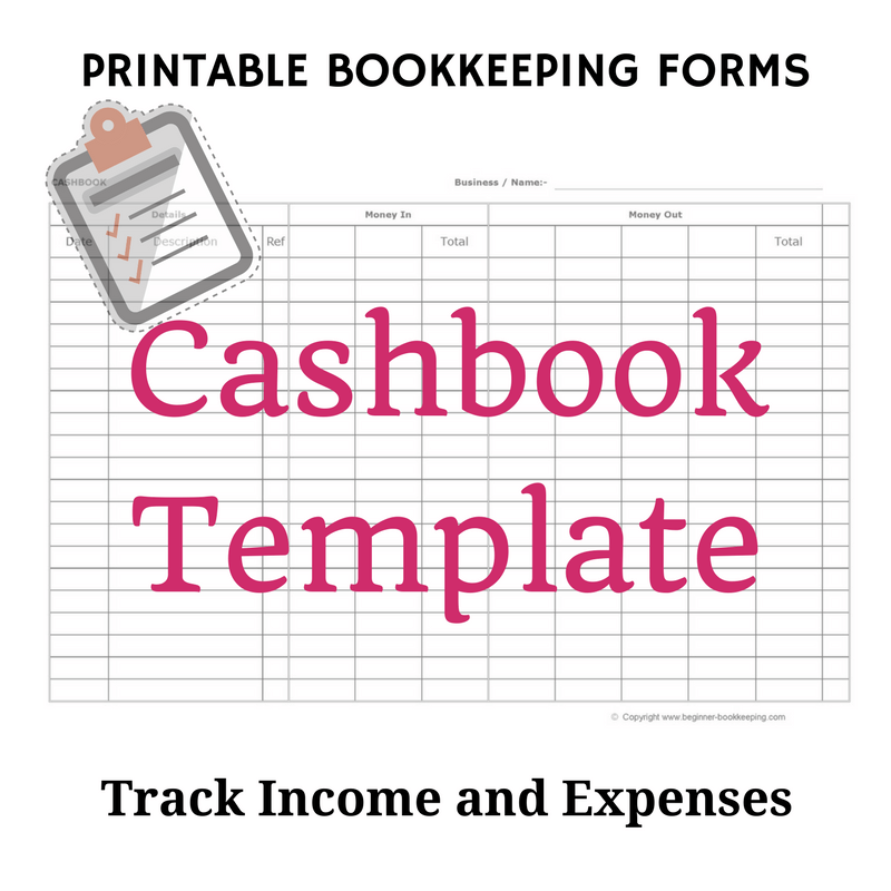 Free bookkeeping forms and accounting templates printable pdf cashbook template flashek Images
