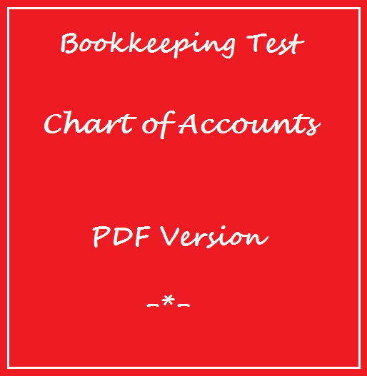 Bookkeeping Tests Chart of Accounts Test