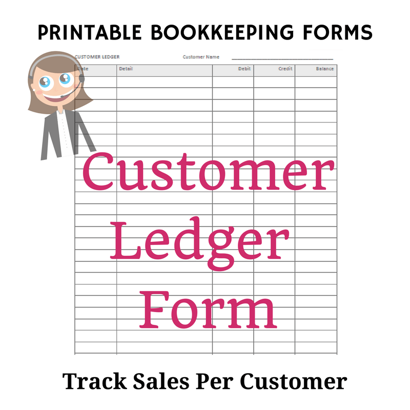 graphic relating to Printable Ledger Page named Free of charge Bookkeeping Kinds and Accounting Templates Printable PDF