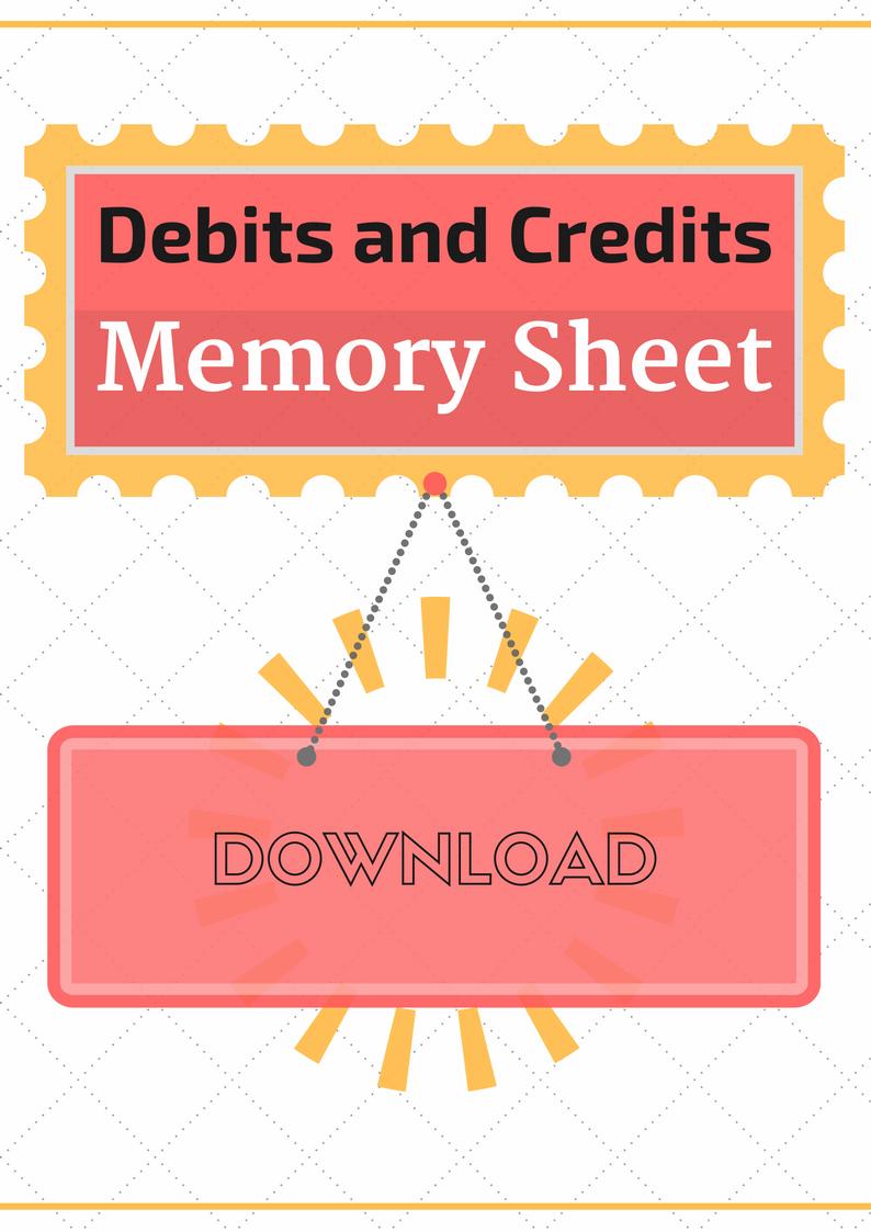 Debits and Credits Memory Sheet