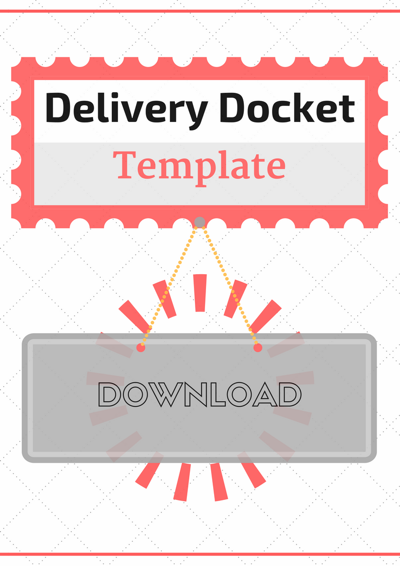 Bookkeeping Forms and Bookkeeping Templates – Delivery Docket