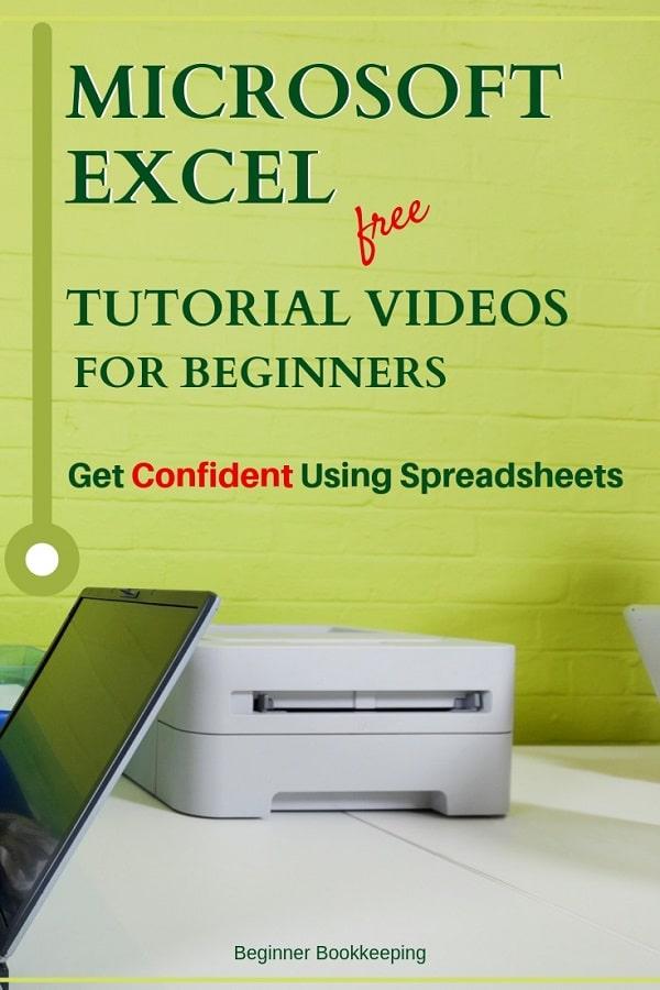 Excel Tutorial Videos for Beginners