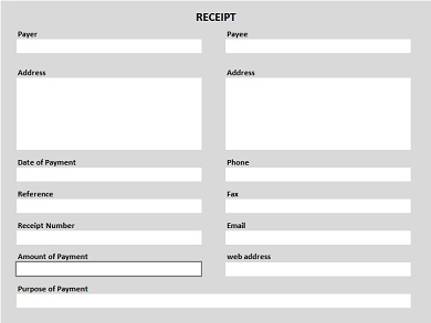 Free Printable Receipt Shaded PDF