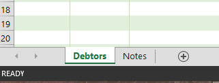 accounts receivable spreadsheet