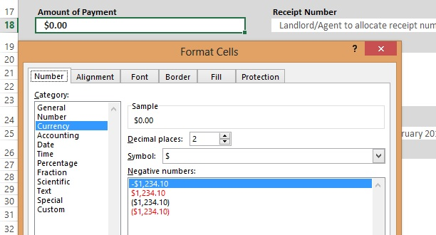 Free Rent Receipt Template In Excel  Pdf