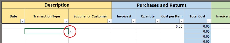 free excel inventory template