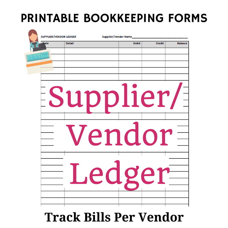 Beginner Bookkeeping  Printable Accounting Ledger