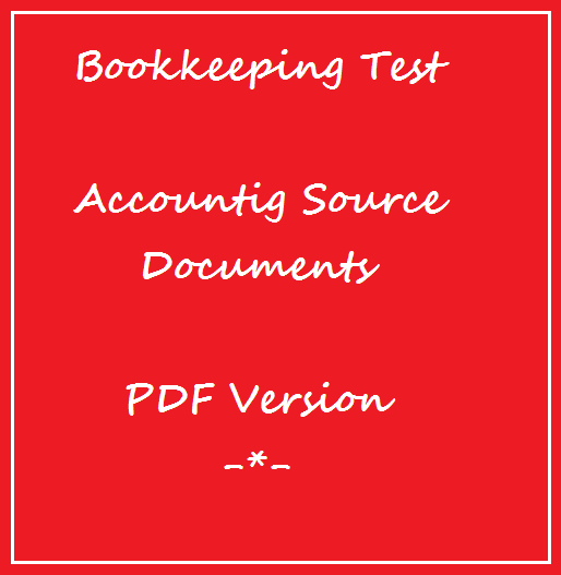 Bookkeeping Tests - Source Documents