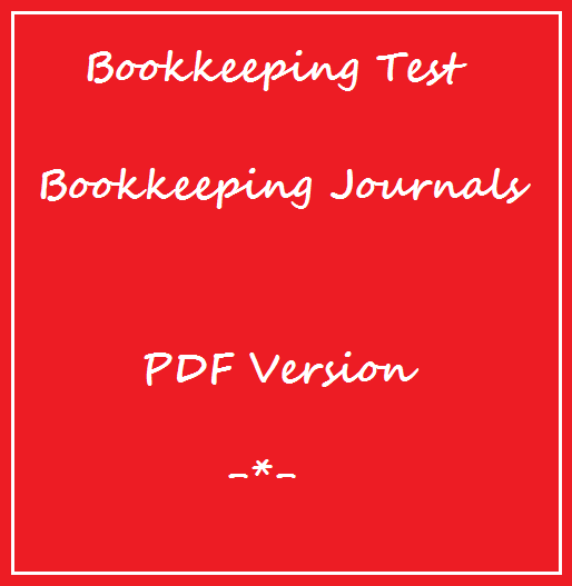 Bookkeeping Tests Bookkeeping Ledgers