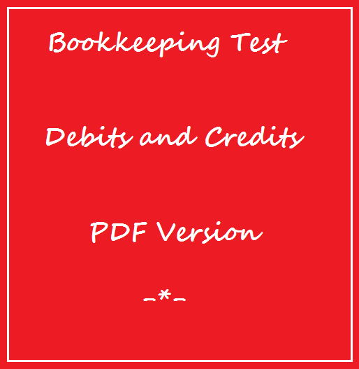 Bookkeeping Test Debits and Credits PDF