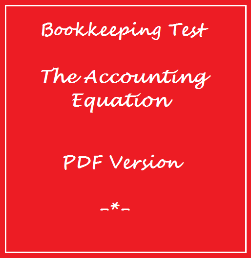 Bookkeeping Tests Accounting Equation Test