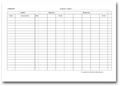 Cashbook Spreadsheet Template