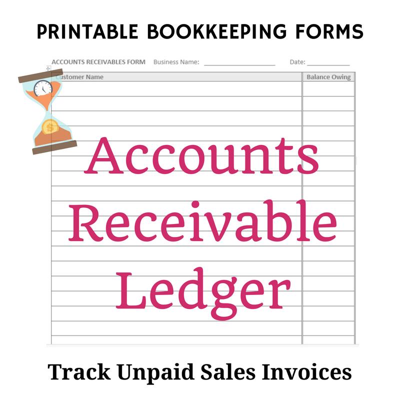 Accounts Receivable Ledger