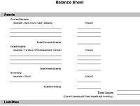 Balance Sheet Form