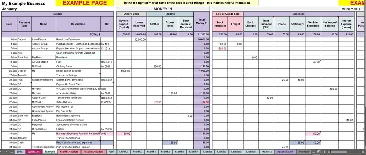small business expenses template