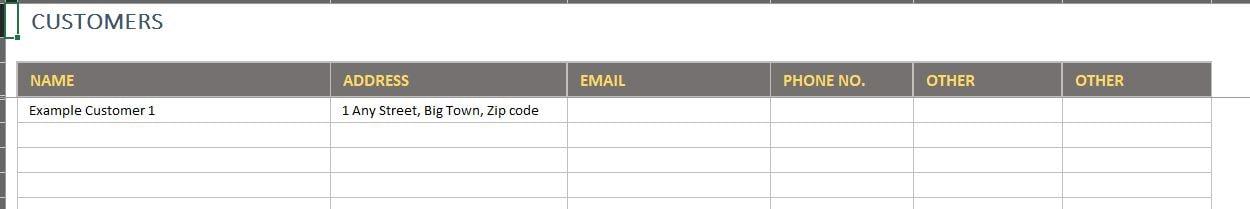 Free excel inventory template customers tab maxwellsz
