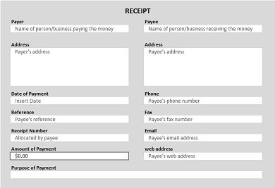 Free Printable Receipt  Cheque Receipt Template