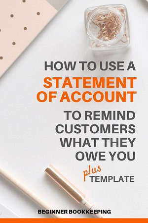 Statement of Account Sample and Template