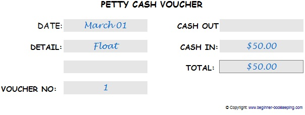 Petty Cash Voucher  Petty Cash Voucher Example
