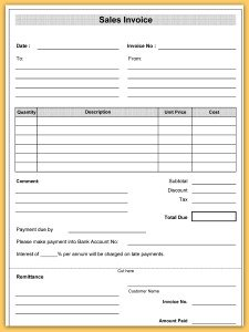 Sales Invoice Template - Sales invoice template excel free download